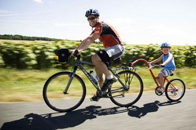 spiritual bike ride, tandem bicycle, surrender, letting go, enjoying the ride